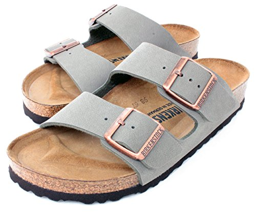 Birkenstock Arizona 2-Strap Women's Sandals in Stone Birko-Flor (39 N EU - Narrow) (Birkenstock Sandals Women 39 compare prices)