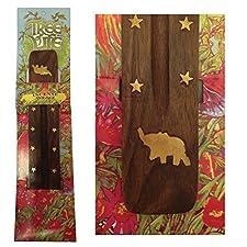 Madera de fresno con madera equipo de incienso elefante soporte para incienso Hippie Festival de flores