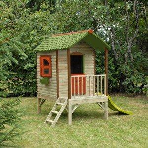 maison de jardin pour enfants mon cabanon couleur marron. Black Bedroom Furniture Sets. Home Design Ideas