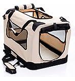 2pet Fold-A-Crate Easy Folding Pet Crate Indoor/Outdoor Pet Home Deluxe (M24) Medium 24 Inches Biscuit Beige