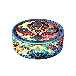 Skin Decal Vinyl Wrap for Amazon Echo Dot 2 (2nd generation) / Galaxy Paisley Antique