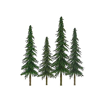"""JTT Super Scenic Spruce 4"""" to 6"""" HO Scale - 24 Pack"""