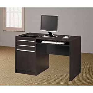 amazon com cappuccino computer desk by coaster furniture
