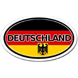 Germany Deutschland Flag Car Bumper Sticker Decal Oval