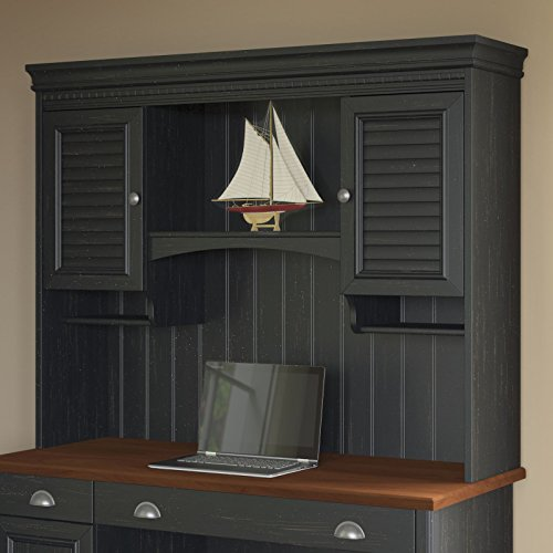 Stanford Hutch for Computer Desk in Antique Black (Bush Stanford compare prices)