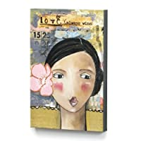 Kelly Rae Roberts Love Girl With Flower Wall Art
