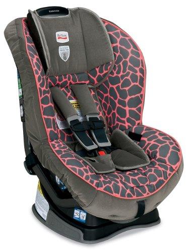Britax Marathon G4 Convertible Car Seat, Pink Giraffe front-1046180