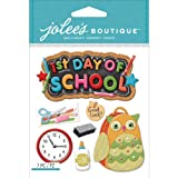 Jolee's Boutique Dimensional Stickers, 1st Day of School