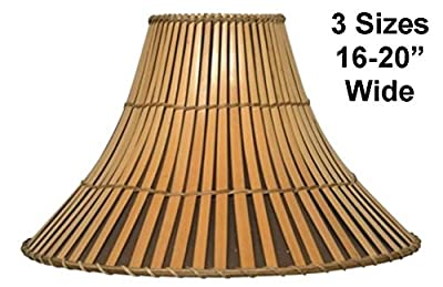 "Sizes 16-20"" Wide Split Bamboo Lamp Shade 3 SIZES 16-20""W Fine Quality Wicker Rattan Lampshade For Table Floor Lamps"