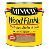 Minwax 710970000 Wood Finish - Penetrates, Stains & Seals, 250 VOC, gallon, Weathered Oak (Color: Weathered Oak, Tamaño: 250 VOC)