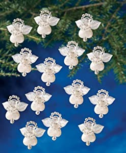 Beadery Holiday Beaded Ornament Kit, 1.125-Inch, Littlest Angel, Makes 24 Ornaments