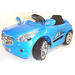 12v Battery Powered Electric Ride On Sports Car In Blue - Ages 2+ Years