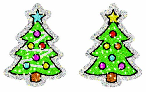 Carson Dellosa Christmas Trees Dazzle Stickers (2938) - 1
