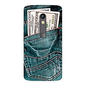 Full Dollar Jeans Back Case Cover for Moto X Play