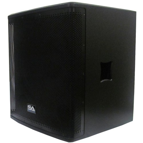 """Seismic Audio - Magma-118S-Pw - Powered 18"""" Pro Audio Subwoofer Cabinet - 800 Watts Rms - Pa/Dj Stage, Studio, Live Sound Active 18 Inch Subwoofer"""