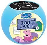 Peppa Pig - Reloj despertador con radio proyector (Lexibook RL975PP)