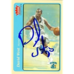David West Autographed Hand Signed Basketball Card (New Orleans Hornets) 2004 Fleer...