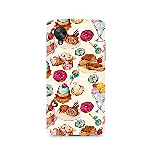 Rubix Customized Designer Hard Back Phone Case of Ice Cream Love for LG Google Nexus 5