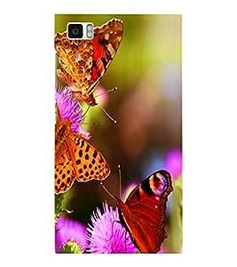 printtech Flower Butterfly Back Case Cover for Xiaomi Redmi Mi3::Xiaomi Mi 3
