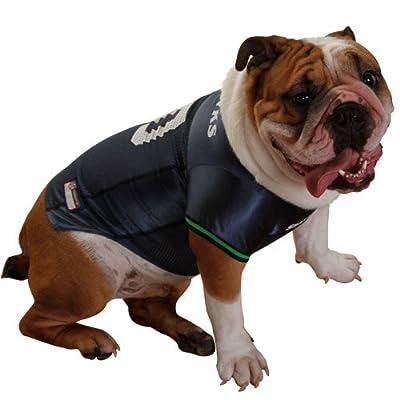 NFL Seattle Seahawks Steel Blue Mesh Pet Football Jersey