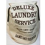 "Wäschesack ""Laundry Service Deluxe"" creme H 55 cm"