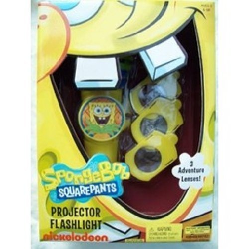 SpongeBob Squarepants Projector Flashlight ... 3 Adventure Lenses ... nickelodeon - 1