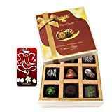 Chocholik Belgium Chocolates - 9pc Soft And Sweet Dark Chocolate Box With With 3d Mobile Cover For IPhone 6 -...