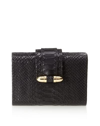 CC Skye Women's Bullet Hard Clutch, Black Python As You See