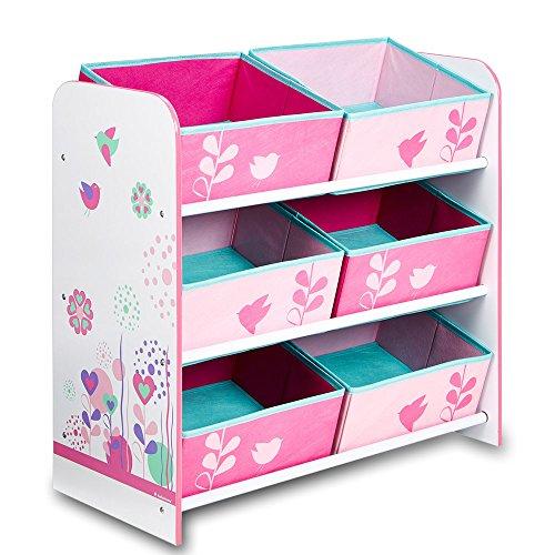 aufbewahrungsregal spielzeugkiste kinderregal regal 6 boxen m dchen und jungs mit. Black Bedroom Furniture Sets. Home Design Ideas