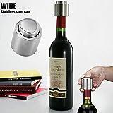 3PCS Silver Elegant Stainless Steel Sealed Wine Bottle Stopper