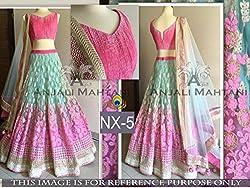 pushty fashion hevi work pink designer lehenga choli semistiched