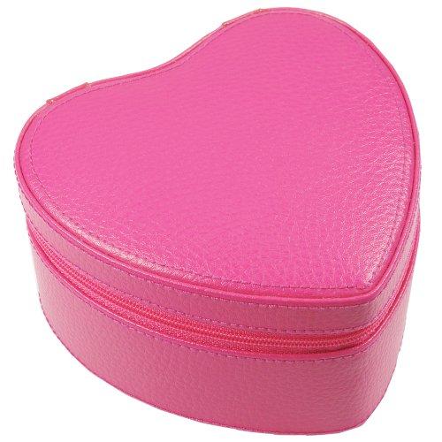 Dulwich Barcelona Hot Pink Heart Shaped Box, Pumpkin Lining