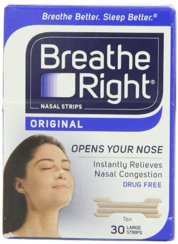 Breathe Right Nasal Strips, Large, Tan, 30-Count