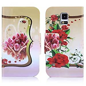ENKAY Flower Pattern High Quality Protective Case for Samsung Galaxy S5