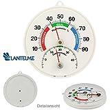 Bimetall Kombi Thermometer / Hygrometer Analog . Thermohygrometer / Luftfeuchtemessung . Made in Germany