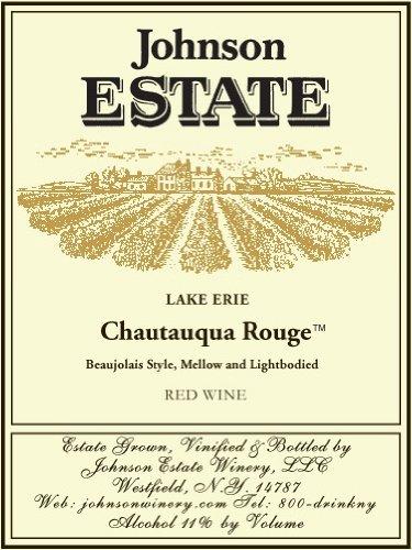 Nv Johnson Estate Lake Erie Chautauqua Rouge Red Wine 750 Ml