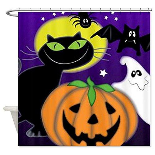 Halloween Scene Shower Curtain - Standard White