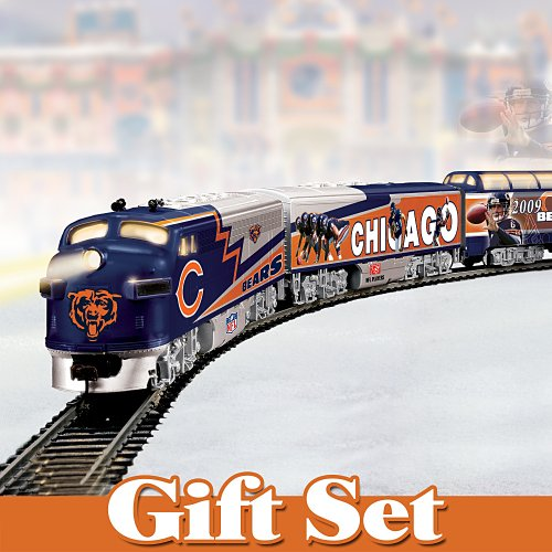 Chicago Bears Express: Collectible Electric Train Gift Set By Hawthorne Village