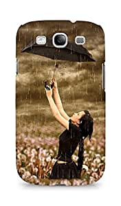 Amez designer printed 3d premium high quality back case cover for Samsung Galaxy S3 Neo (Beautiful Girl in Rain)