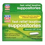 Rite Aid Bisacodyl USP 10 Mg. Suppositories 8 Ct.