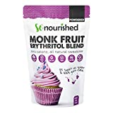 Powdered Monk Fruit Sweetener with Erythritol Confectioners (1 lb / 16 oz) - Perfect for Diabetics & Low Carb Dieters - 1:1 Sugar Replacement - No Calorie Sweetener, Non-GMO, Natural Sugar Substitute (Tamaño: 16 Ounces)