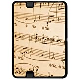 Music Musical Sheet Notes Vintage - Treble Clef - Snap On Hard Protective Case for Amazon Kindle Fire HD 7in Tablet (Previous 2012 Release Version)