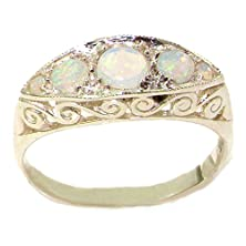 buy Carved Solid English Sterling Silver Natural Fiery Opal Ring - Size 6.5 - Finger Sizes 5 To 12 Available