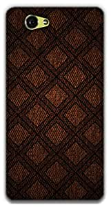 The Racoon Lean DIAMOND PATTERN ON FABRIC hard plastic printed back case / cover for Sony Xperia Z1 Compact