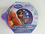 Set of Disney Frozen Small Snack Containers + Mini Snack Container W/Lids