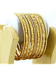 BDF Gold Plated Designer Antique Bangles. A Pair Of 12. Product Design May Differ As Per The Photography. Available...