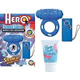 Hero Remote Control Wireless Cockring - Blue & Tasty Twist Oral Enhancer Balm
