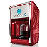 BELLA 13839 Dots Collection 12-Cup Programmable Coffee Maker, Red