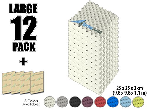 arrowzoom-new-12-pack-of-98-in-x-98-in-x-11-in-soundproofing-insulation-egg-crate-acoustic-wall-foam