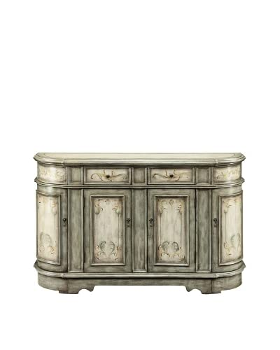 Coast to Coast Scroll Credenza, Beige As You See